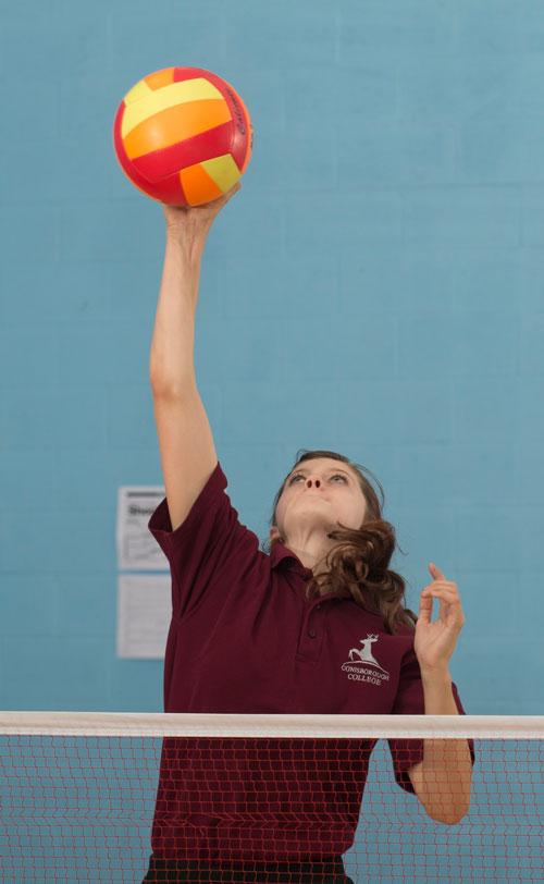 Conisborough-College-PE-Volleyball-Female-Students-Lewisham