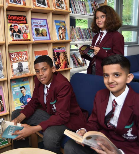 Students in Conisborough College Library