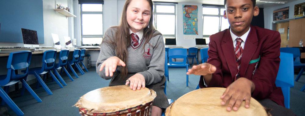 Conisborough Music Students Learning Percussion – Lewisham 4249