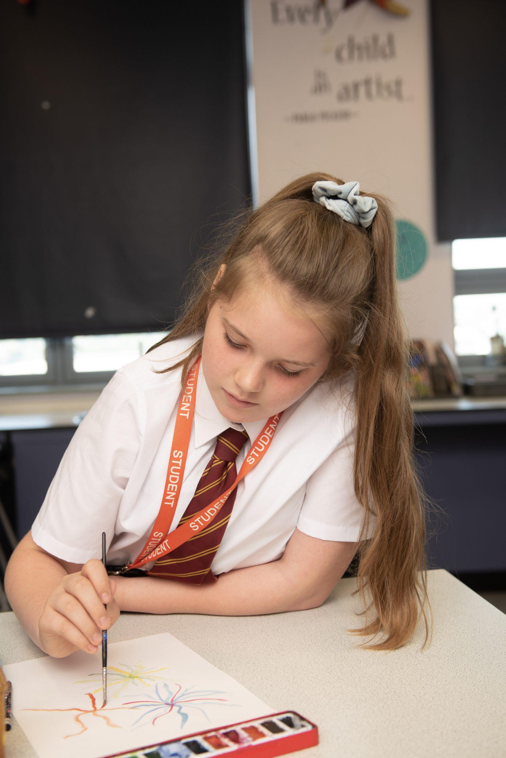 Conisborough DT Female Students Measuring Lewisham
