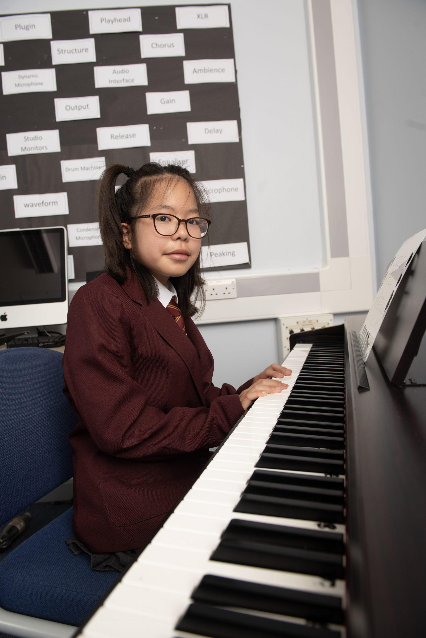 Conisborough-Music-Female-Student-Learning-Piano-Lewisham-4258